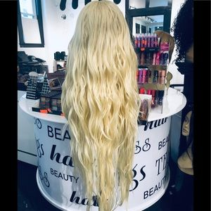 Accessories - Long blonde New wig Lacefront Wavy 2019 hairstyle